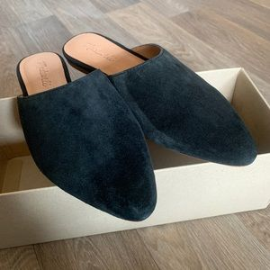Madewell the remi mule black suede